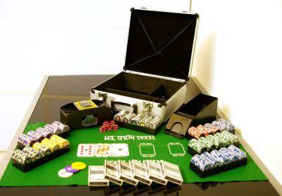 Póker készlet, 600 db-os zseton OCEAN + kiegészítők