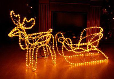 Karácsonyi rénszarvas világítás 280x LED - 140 cm