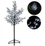 Dekoratív LED fa virágokkal - 150 cm, hideg fehér