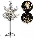 Dekoratív LED fa virágokkal - 150 cm, meleg fehér