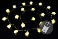 Karácsonyi fényfüzér NEXOS 1,77m/20x LED - meleg fehér