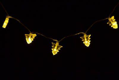 Karácsonyi világítás- karácsonyfák - meleg fehér