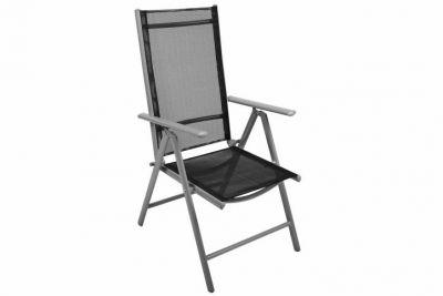 Kerti szék összecsukható GARTHEN - fekete
