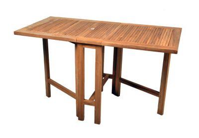 Kerti összecsukható asztal DIVERO 130 x 65 cm - teak fa