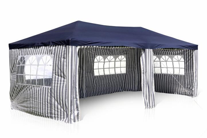 Kerti parti sátor – 3 x 6 m, kék