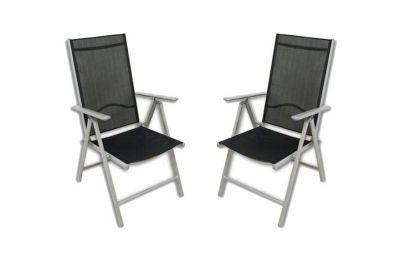 Kerti szék összecsukható GARTHEN 2 db - fekete
