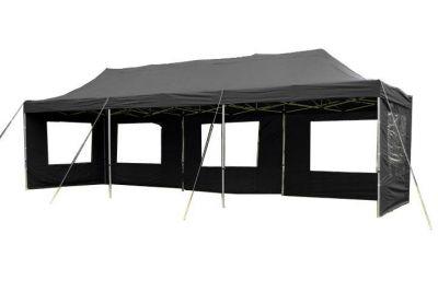 Összecsukható kerti sátor PROFI 3 x 9 m - fekete