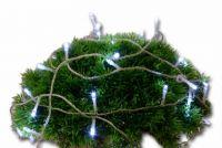 Karácsonyi  LED világítás 10m időzítővel - hideg fehér, 100 dióda