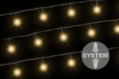 diLED fényfüzér NEXOS 3m/40x LED - meleg fehér