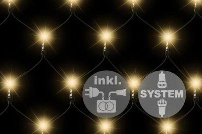 diLED világítási háló - 100 LED meleg fehér + bekötés