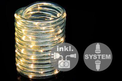 diLED világító kábel - 60 LED meleg fehér + bekötés