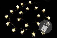 Karácsonyi fényfüzér NEXOS 1,8m/20x LED - meleg fehér