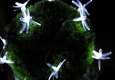 Kerti dekorációs napelemes LED lámpa - Szitakötők 24 LED dióda