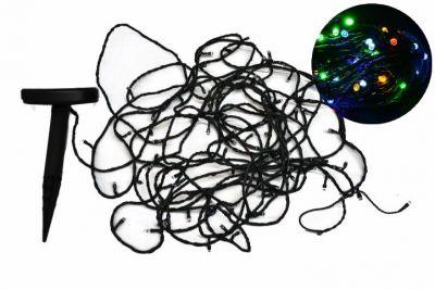 Szoláris fényfüzér Garth – 100 x LED dióda, színes