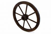 Fa kerék Garth, stílusos, rusztikus dekoráció - 50 cm, sötétbarna