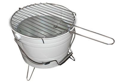 Mini BBQ vödör grill - fehér