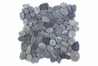 Mozaik burkolat DIVERO® 1db - folyami kavics, szürke
