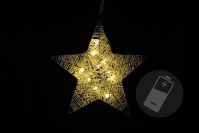 Karácsonyi csillag 25cm/10x LED - meleg fehér