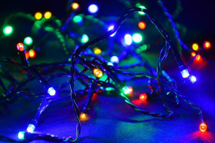 Karácsonyi LED fényfüzér 30 m - színes, 300 dióda