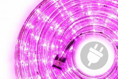 LED fénykábel 10 m - rózsaszín, 240 dióda