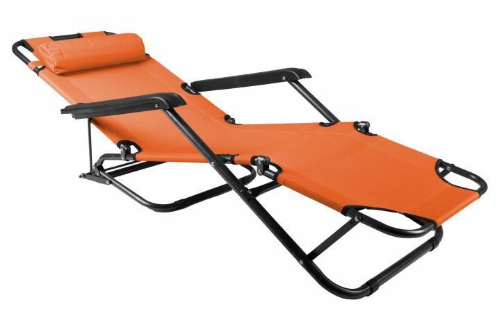 Kerti összecsukható nyugágy – narancssárga