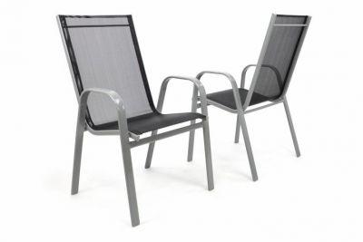 Kerti szék rakásolható GARTHEN 2 db - antracit