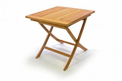 Kerti asztal DIVERO 80 x 80 cm - teak fa
