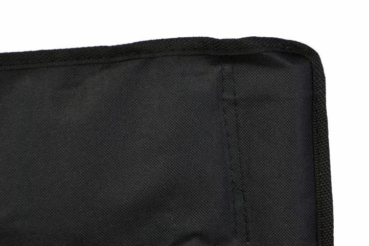 Összecsukható kempingszék pohártartóval, fekete