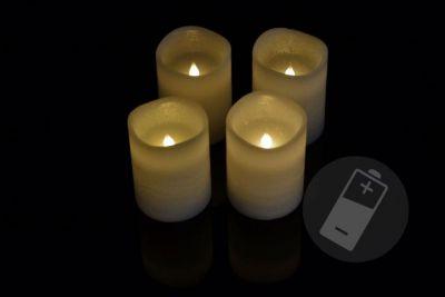 Dekoratív LED készlet - 4 adventi gyertya - fehér