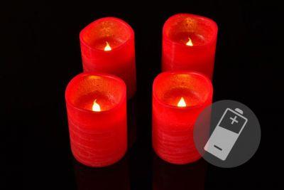 Dekoratív gyertyák adventi 4db - piros