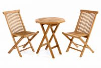 Kerti bútor készlet DIVERO asztal + 2 db szék - teak fa