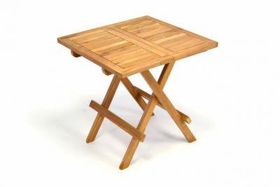 Kerti asztal DIVERO 50 cm - tíkfa