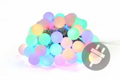 Kerti party világítás- kültéri 50 LED pasztell színek