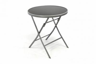 Kerti asztal összecsukható GARTHEN 70 cm - ezüst