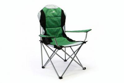 Kempingszék összecsukható DIVERO® Deluxe - zöld