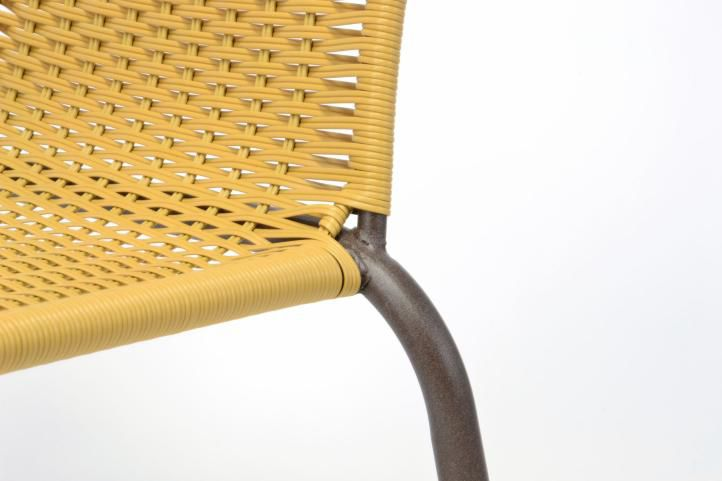 Kerti rattan székek BISTRO 4 db - világos barna