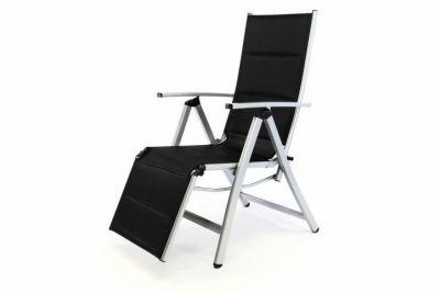 Kerti szék összecsukható DELUXE - fekete