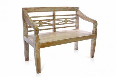 Kerti pad DIVERO® 2-személyes 115 cm - tíkfa