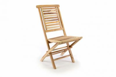 Kerti szék összecsukható DIVERO® Hantown - tíkfa