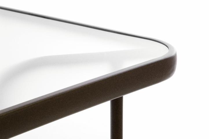 Kerti asztal GARTHEN üveglappal - 110 x 60 cm