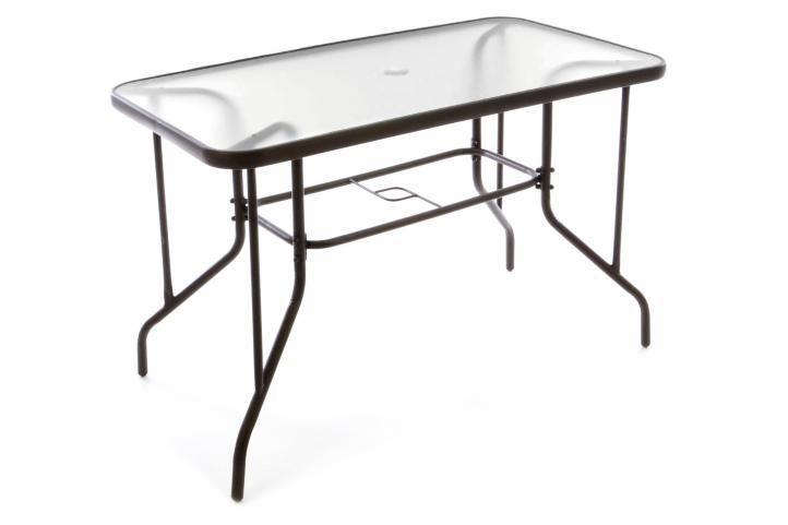 Kerti bútor készlet GARTH 4 db szék + asztal - barna