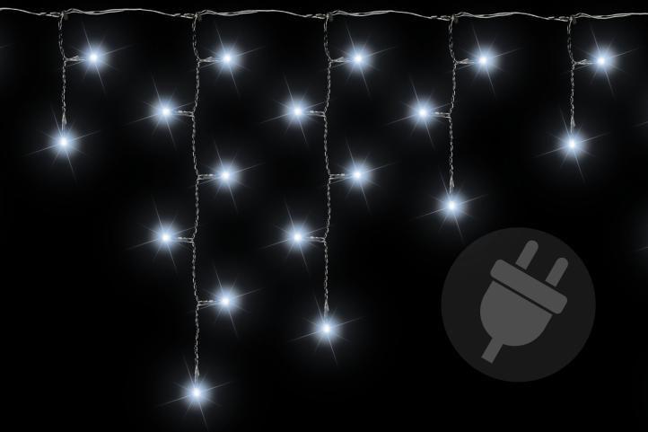 Karácsonyi fényfüggöny 400 LED hideg fehér - 7,8 m