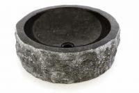 Mosdókagyló DIVERO - fekete márvány