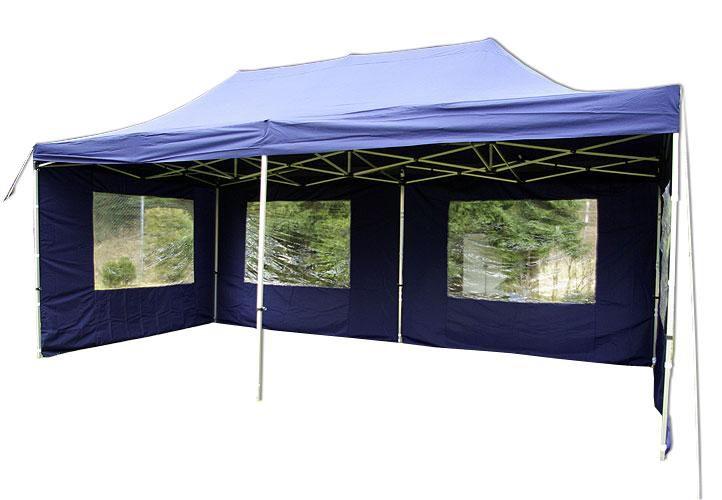 Összecsukható kerti parti sátor – 3 x 6 m kék