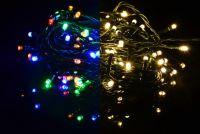 Karácsonyi fényfüzér NEXOS 19,9m/200x LED - színes