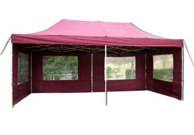Összecsukható kerti sátor PROFI 3 x 6 m - bordó