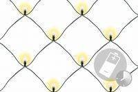 LED fényháló NEXOS 1,5 x 1.5m/100x LED - meleg fehér