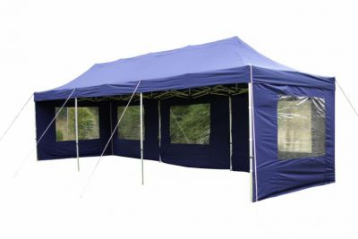 Kerti összecsukható sátor – kék, 3 x 9 m