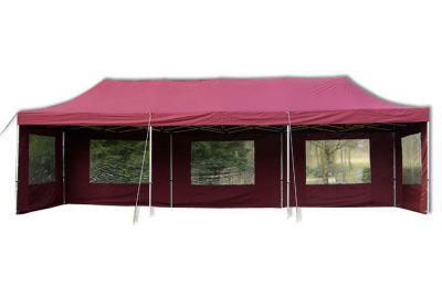 Kerti összecsukható sátor – bordó, 3 x 9 m