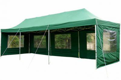 Kerti összecsukható sátor PROFI – zöld, 3 x 9 m